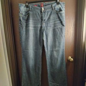 Sasson Bootcut Boogie Oh La La Blue Jeans Sz 16